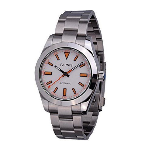Parnis Sapphire Glass White Dial Milgauss Style Automatic Men's Watch PA-0052